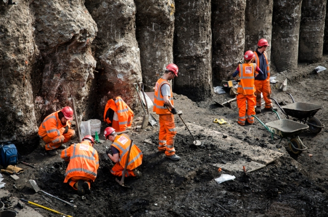Crossrail Archaeology dig at Liverpool Street